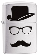 Запальничка Zippo Top Hat Glasses And Mustache