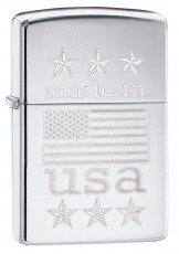 Запальничка Zippo 250 Made In USA with Flag